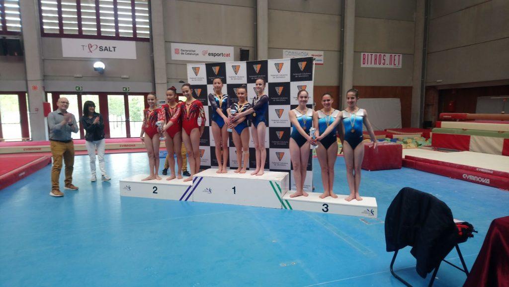 l'equip de Base 7P de via olimpica femenina en la 3a fase de la copa catalana a Salt