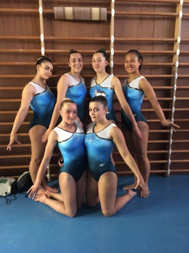l'equip de base 8 femenina en la 3a fase de la copa catalana a Salt