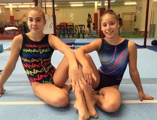 Lorena Medina i Mar Palliso  en els Jocs del Mediterranis júnior