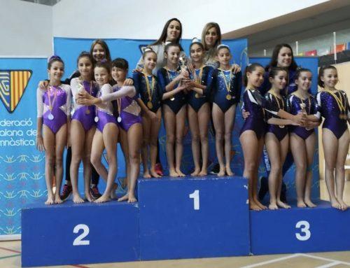 Podi al campionat 1ª Fase Copa Catalana en la Categoria Escolar B